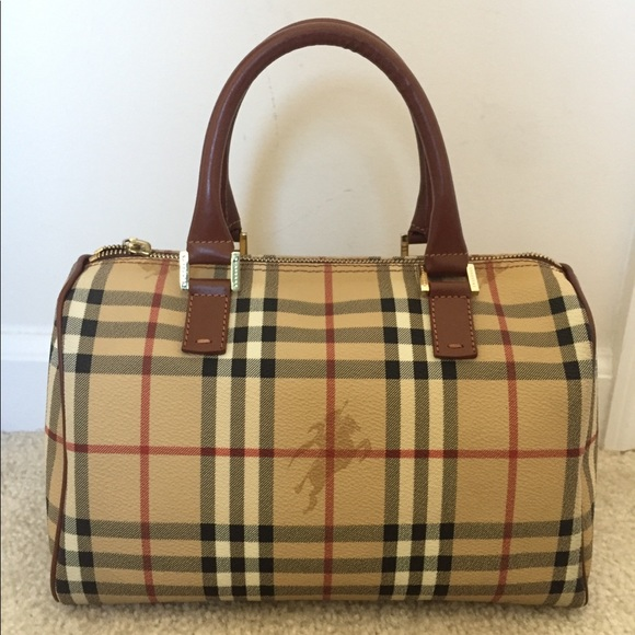 e03f92d80d Burberry Handbags - EUC vintage Burberry haymarket check bowling tote